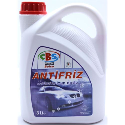 Çbs KIRMIZI ANTI-FREEZE -55 Derece 3 Litre 09h003