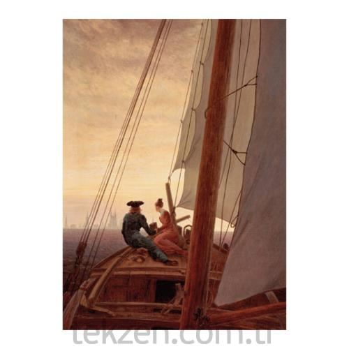 Caspar David Friedrich - On a Sailing Ship 50x70 cm