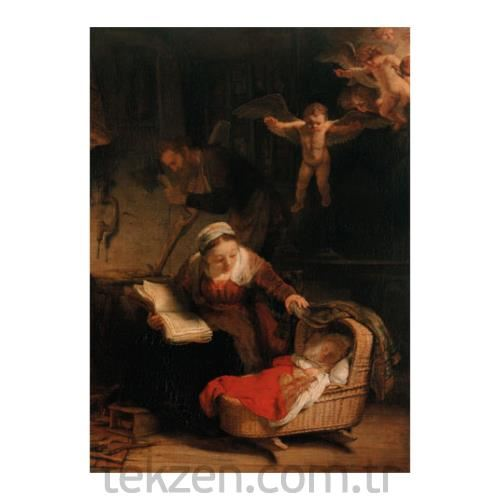 Rembrandt Harmenszoon Van Rijn - The Holy Family 50x70 cm