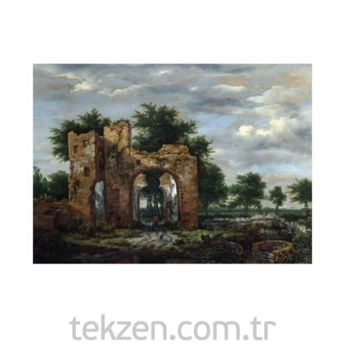 Jacob Van Ruisdael - A Ruined castle Gateway 50x70 cm