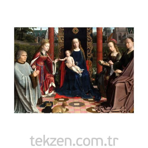 Gerard David - The Mystic Marriage of St Catherine 50x70 cm