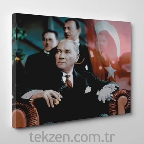TabloShop - ATATÜRK Kanvas Tablo - 50x75cm 29Ekim
