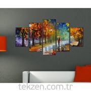 Tabloshop - Kp-05 5 Parçalı Canvas Tablo - 123x56cm